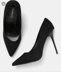 Black Sandal Pencil Heel