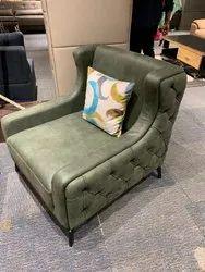 Wooden SOFA CHAIR, Back Style: Cushion