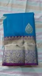 Wedding Wear Pure Kanchipuram Silk Saree, With Blouse Piece, 5.5 m with blouse peice