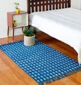 Cotton Block Printed Rug Carpet