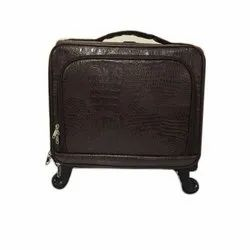 Brown Plain Cabin Trolley Bags, For Travelling