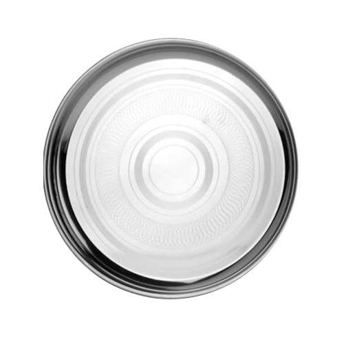 Pooja Silver Round Stainless Steel Dinner Thali