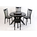 Round Seat Armless Plastic Chair