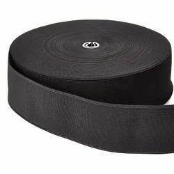 Black Elastic Woven Tape
