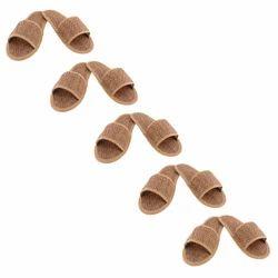 Open Toe Fancy Jute Bathroom Slippers, Size: 6-10