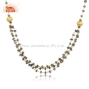 Gold Plated Designer Silver Natural Labradorite Gemstone Beaded Necklace Jewelry