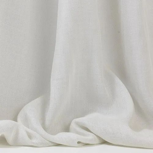 What Is Sheer Curtain Fabric: White Plain Sheer Curtain Fabric, GSM: 150-200, Rs 600