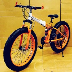 White And Orange Racing X6 Foldable Cycle