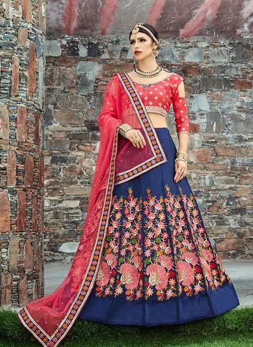 d654b6136a Art Silk Embroidery Work Designer Lehenga Choli, Rs 3191 /piece | ID ...