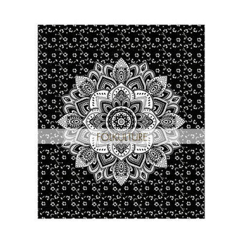 Black Lotus Flower Mandala Tapestry Bed Sheets At Rs 250 Piece