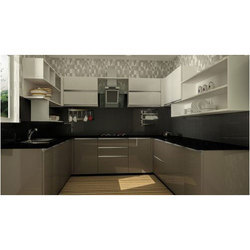 Modern U Shaped Modular Kitchen