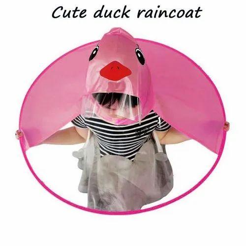 0e049f4548b Tech Gear Raincoat for Baby Kids Cute UFO Hat Folding Umbrella ...