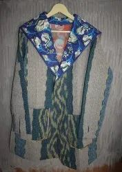 V Neck Kantha Ladies Jacket
