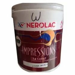 High Sheen White HD 24 Carat Nerolac Emulsion Paints, For Interior Walls