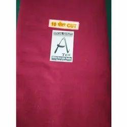 Dyed Mahroom Maroon Plain Cotton Fabric, GSM: 270-290