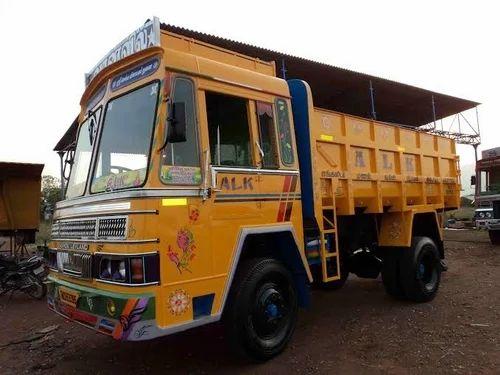yellow aluminium tipper lorry body rs 650000 piece sakthi body