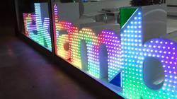 pixel led letters