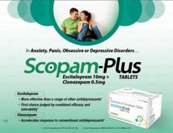 Escitalopram 10mg Clonazepam 0.5mg Tablets