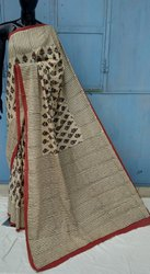 Exclusive Bagru Natural Hand Block Printed Cotton Saree