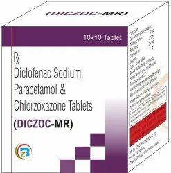 Diclofenac Sodium , Paracetamol , Chlorzoxazone Tablets
