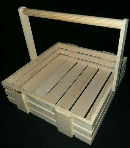 Wooden Gift Basket