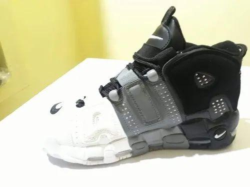 Black-Grey Rubber Nike Uptempo 2ace2f2a9b11