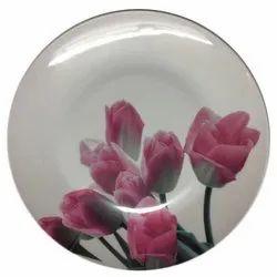 Melamine Round Printed Serving Plate