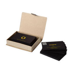 Black Rectangle Printed Visiting Cards