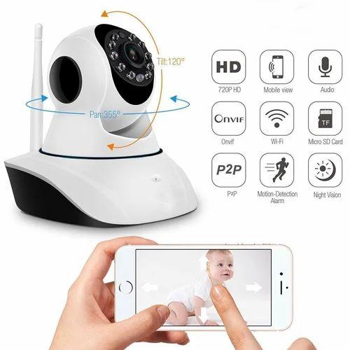 Marklif Wifi Home Ip Camera Long Range 360 Degree Move Wireless (2, Dual  Antenna)