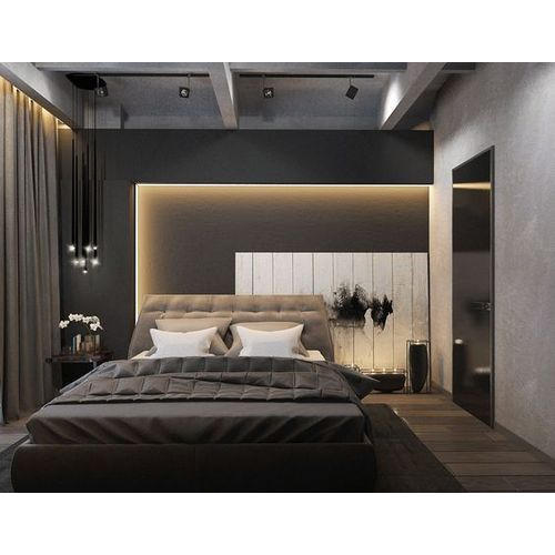 Plywood Modern Bedroom Double Bed Size