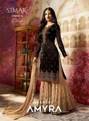 Glossy Sharara Suits
