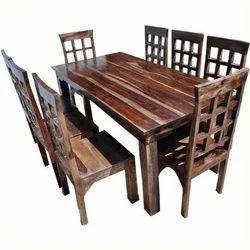 Modern Dark Brown Vintage Dining Table