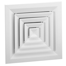 Aircons Aluminum Ceiling Air Diffuser, Shape: Square