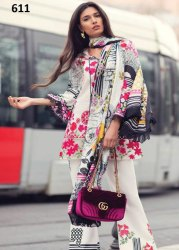 Pure Cotton digital print with Embroidery Pakistani Lawn Suit