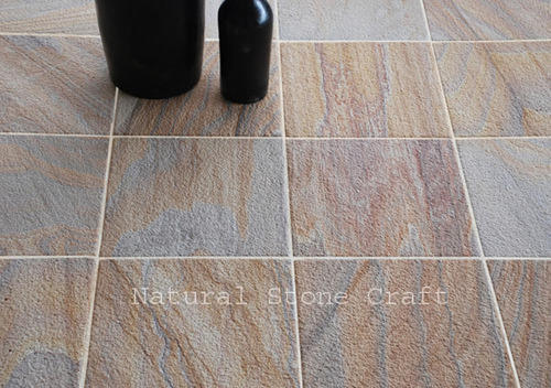 Brown Stone Floor Tile, Thickness: 20-25 mm