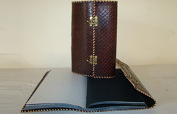 Designer Leather Journal With Lock