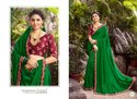 Stylish Green Color Silk Saree