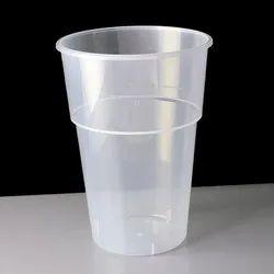 4-5 Inch Plain 350ml Plastic Disposable Glass, 0.5-1 mm