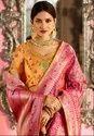 Rani Pink Designer Silk Saree