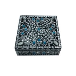 Metal Square Jewelry Boxes, Packaging Type: Cardboard Box