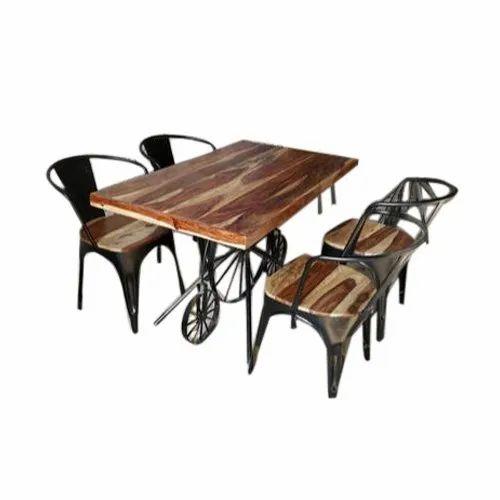 Antique Restaurant Dining Table Set