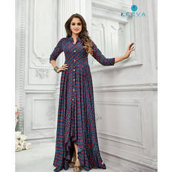 5152 Leeva Printed Rayon Cotton Kurti