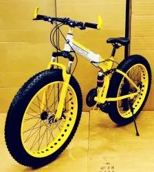 BMW Yellow Fat Tyre Foldable Cycle