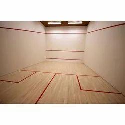 Rishi Sports Dark Brown Maple Squash Court Sports Floor