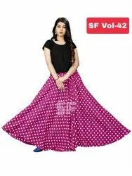 Rayon Top Crepe Skirt