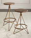 Industrial Swivel Bar Stool and Counter Stool