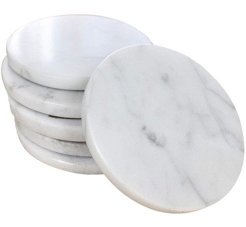 White Trident Marble Coaster Rs 800 Set Trident Handicrafts Id 20817117255