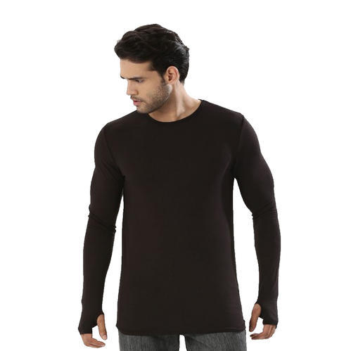 6a3f1bba47e Cotton Casual Wear Thumb Hole Sleeve Men  s Round Neck Tees