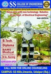 B.tech ss college engineering, Udaipur, 29-July-2020