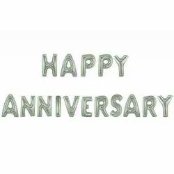 Happy Anniversary Foil Balloon Silver